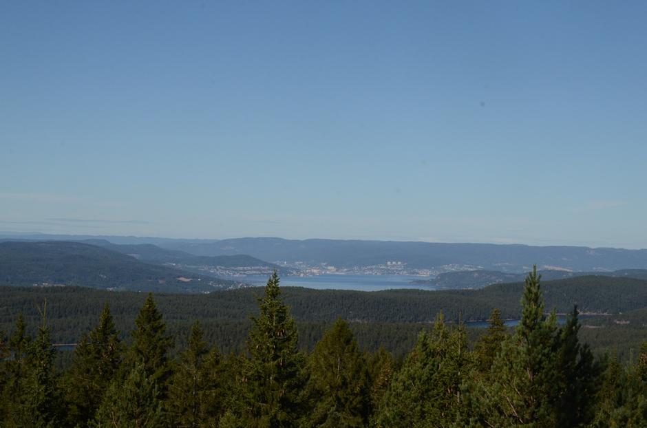 Utsikt mot Drammen.