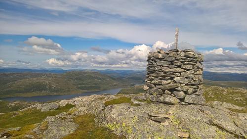 Utsikt nordover frå varden på Kvanngrødfjellet