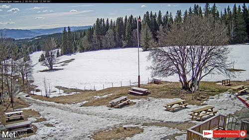 Bildet er fra TTs Webkamera på Rønningen gård