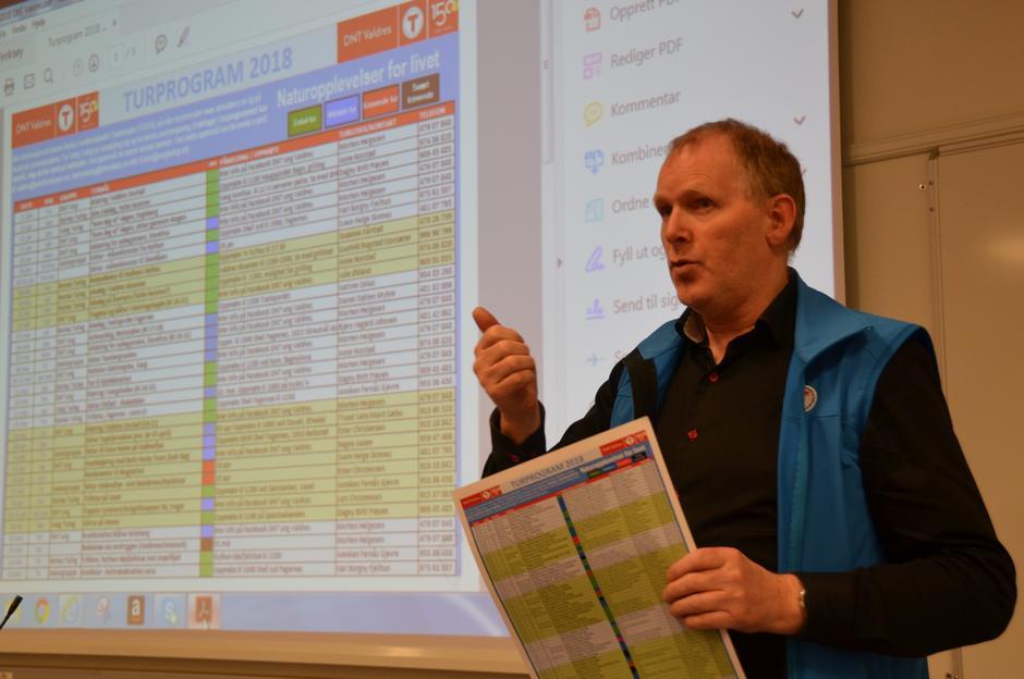 I forbindelse med årsmeldingen presenterte Torkjell turprogrammet