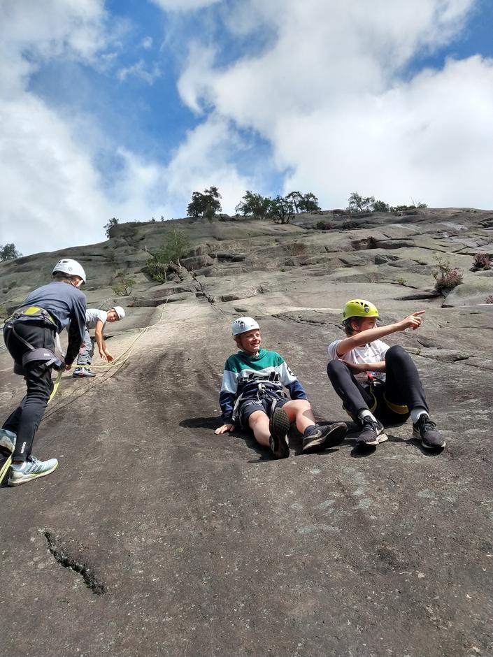 Pause i klatreveggen