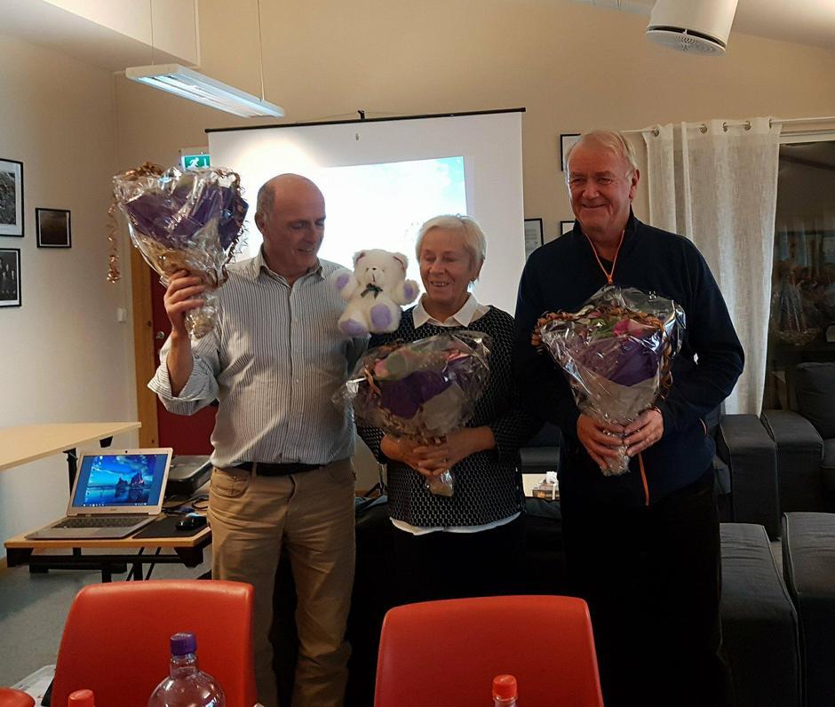 Takk til dei 3 første turleiarane; Gunnar, Berit og Arne.