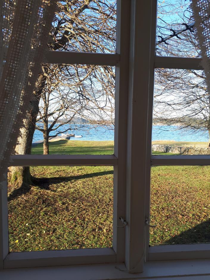 Utsikt fra vinduskarmen