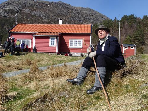 Peder'en (Bjørn Arve Lunde ) ved marsjen i 2016