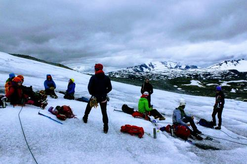 Fjellsportkurs fra Krossbu på Bøverbreen