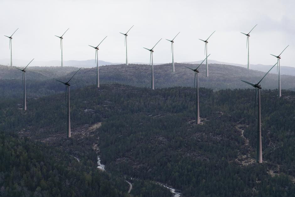 På Stemhei er det under planlegging 30 vindturbiner. Nok grunneiere har sagt ja til at utbygger ønsker å gå videre med planenen. Dette er utsikten fra litt under toppen av Svaba.