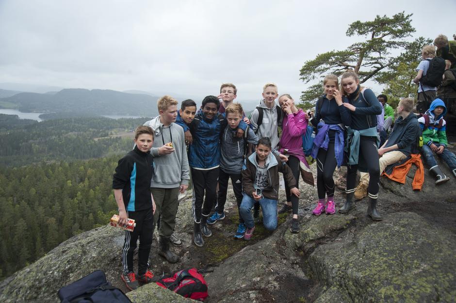 Ungdommen på Fantekjerringkollen under Opptur 2015