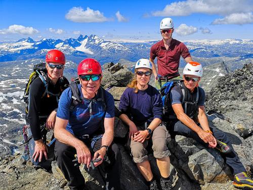 13. juli var det fjellsporttur på Uranostindtraversen