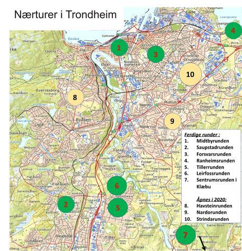 7 merkede nærturer i Trondheim