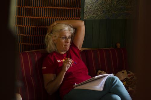 Isabelle Dutard har ansvaret for kjøkkenet på Solheimstulen