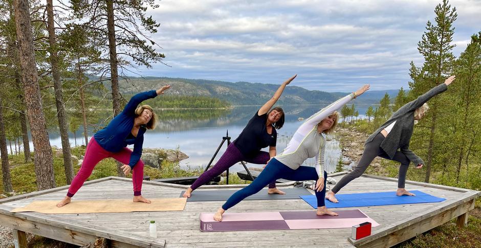 Fantastisk med yoga i det fri