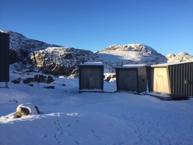 Skåpet 6 januar. God plass på hyttene.