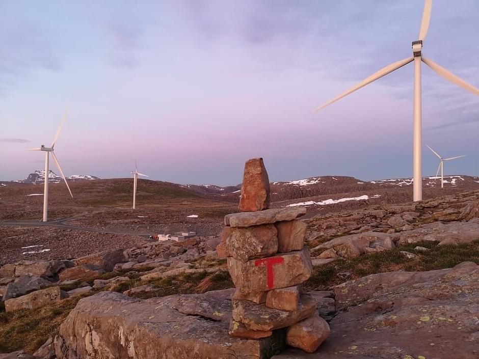 Vindkraftanlegg på Guleslettene.