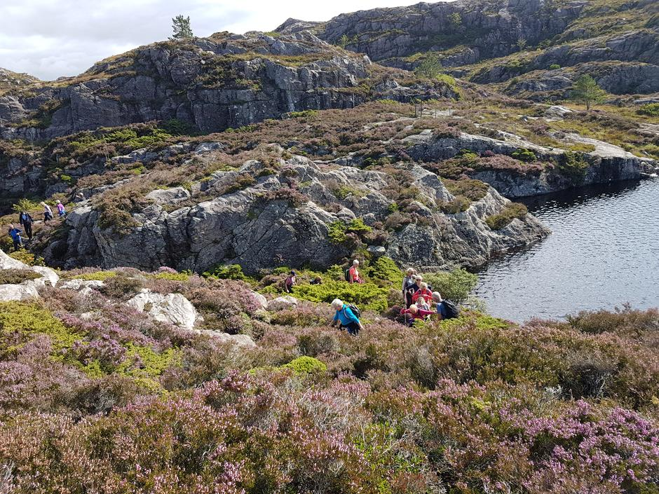 Ved nordre enden av Storavatnet.