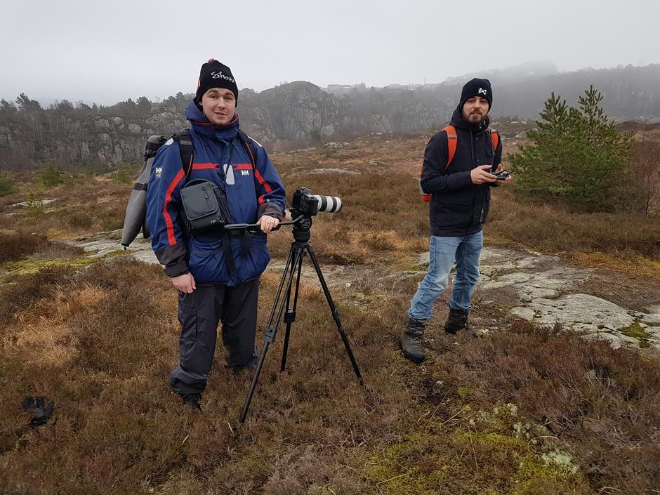 Filmteam på turen til Saltskohamn