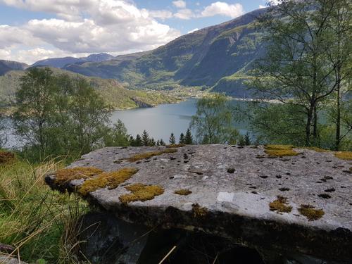Faugstad gård med utsikt til Stanghelle og Veafjorden