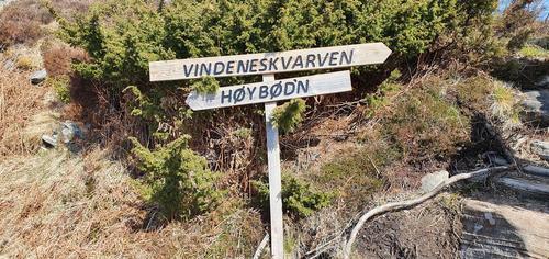Onsdagsgruppa sin tur til Høybøen, Vindenes 28.04.2021.