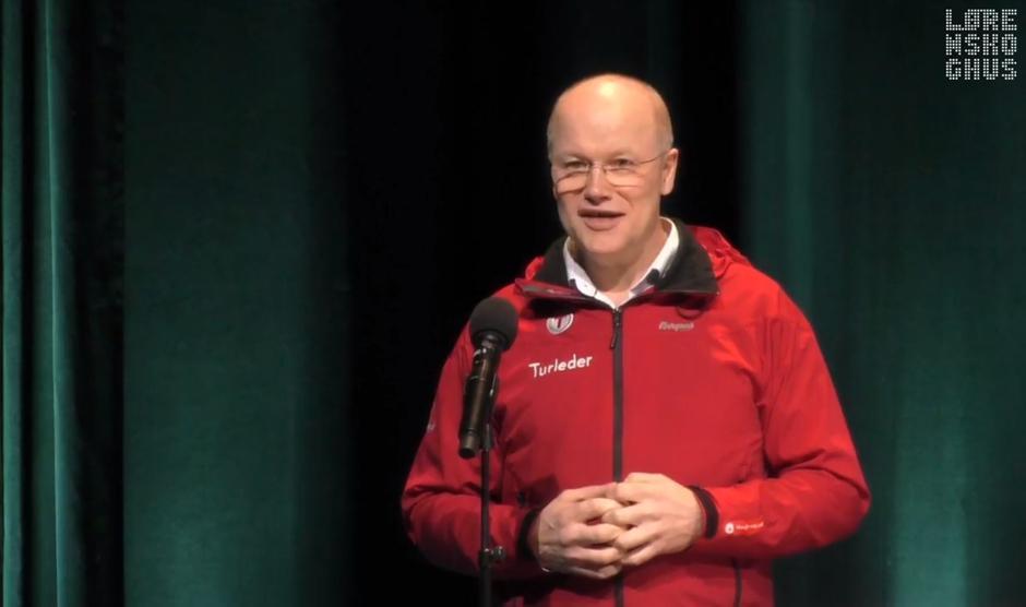 Vidar Thorsvik mottok frivillighetsprisen 2020 på vegne av Lørenskog Turlag