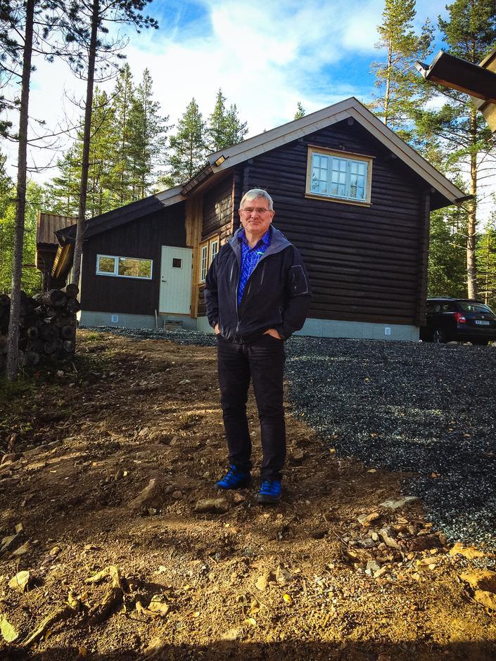 Terje Konningen, en av de flinke frivillige i byggekomiteen