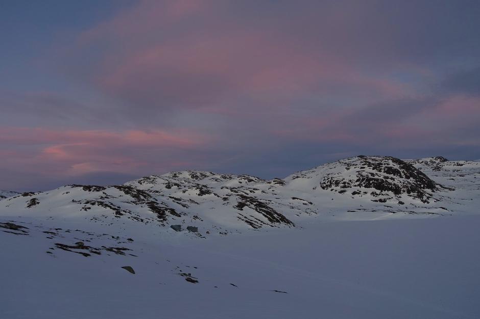 Nok et bilde fra Heibergtunet Storevaten men det viser hvor eventyrlig fint det er i fjellet nå.