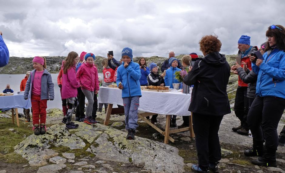 Barnas Turlag var godt representert på fjellfesten.