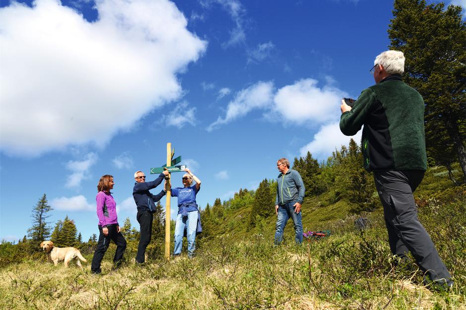 Tilrettelegging for turer i Byfjellene er viktig. Ta kontakt med Turlaget om du vil være med i en dugnadsgruppe.