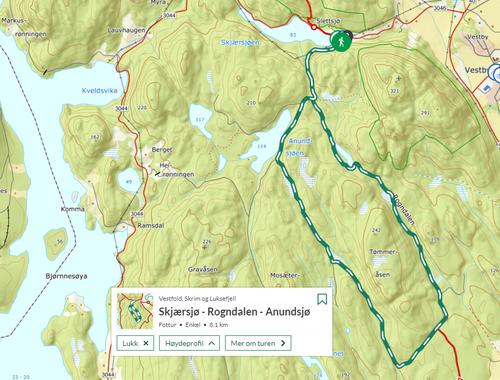 Ukas tur (34) - Skjærsjø-Rogndalen-Anundsjø