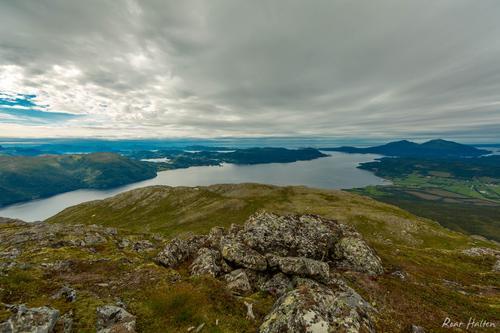 Flott utsikt fra toppen av Blåfjellet