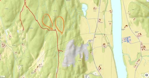 Hogst nord for Hedrum Pukkverk/Barlindåsen syd