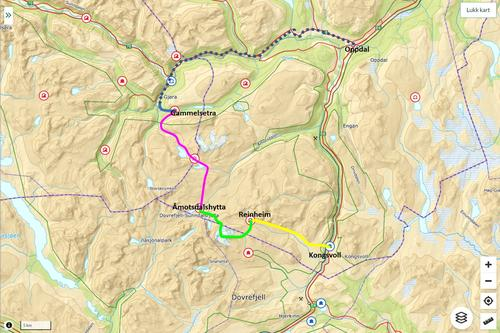 Ruta for turen i langhelgen 9.-12. sept 2021
