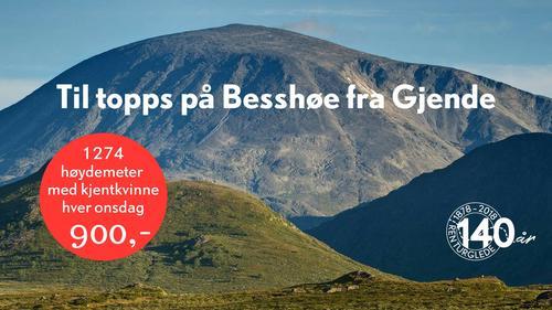 Topptur med kjentkvinne til Besshøe - dronninga av gjende