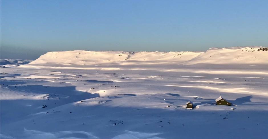 Vinter på Melands Grønahei en stund til enda.