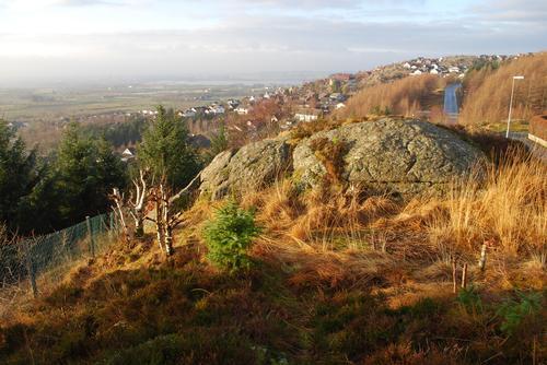 Utsikt mot boligfelt på Lye.