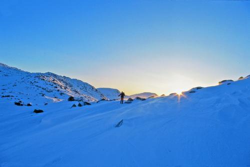 Fint skiterrend ved Hallingskeid Turistforeningshytte