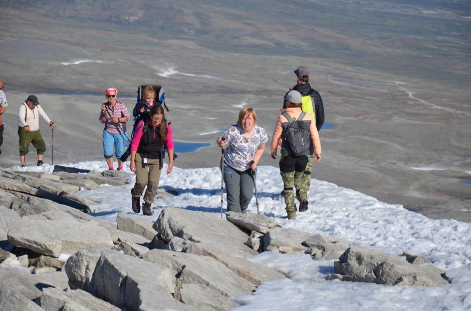 Veien til Snøhetta, neste oppe.