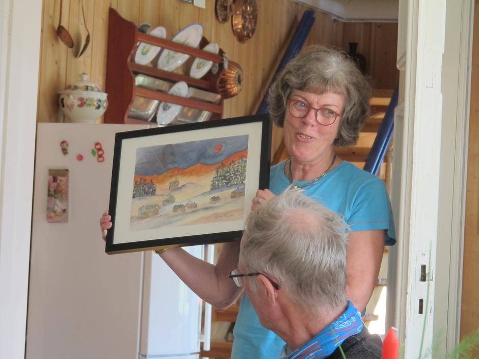 Rigmor Marie Myhren viser akvareller inspirert av «Søsterklokkene»