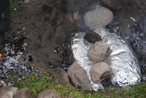 Tilbereding av mat i kokegrop