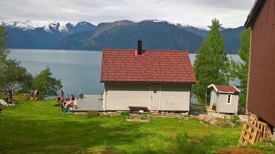 Ein liten pause på Indrebø.
