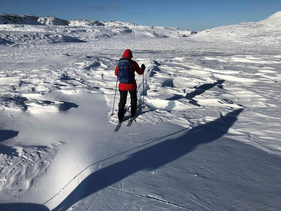 Fine , men også utfordrende skiforhold. Ski med stålkanter er å anbefale.