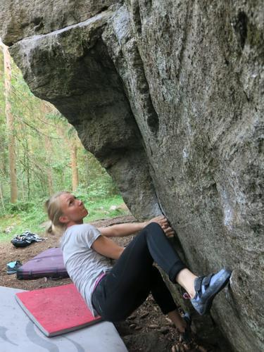 Buldring ved Speidersteinen i Østmarka