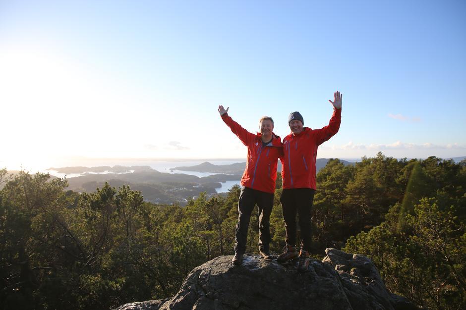 Fellesmøte i Os, november 2018. Styreleder Tore Johan Smidt og nestleder i landsstyret Børge Brundtland.