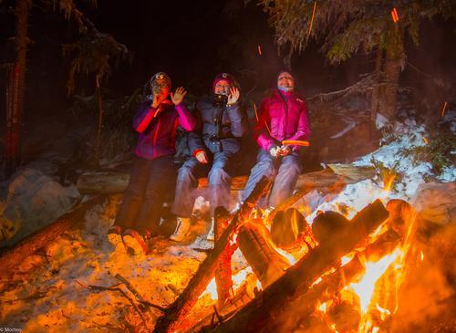 21. januar hadde DNT ung skitur med bål