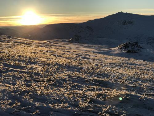 Is- og snøforhold i fjellet i Nordland
