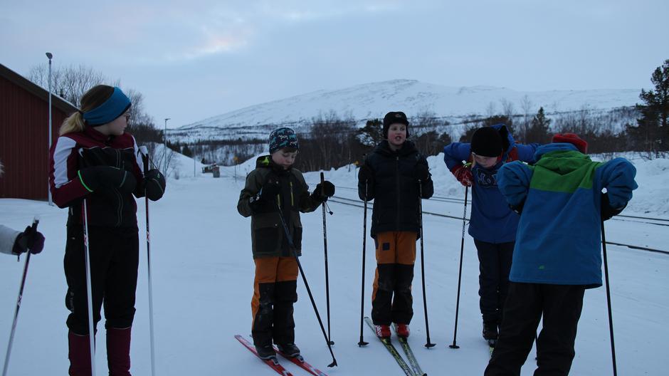 Klar for første skitur fra togstasjonen!