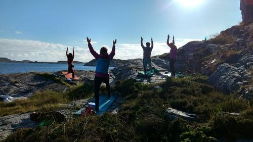 Yoga og padling