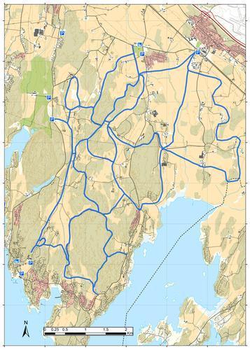 Skiløypekart - Rygge kommune