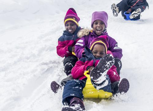 Fleirkulturell vinteraktivitetsdag på Kvamskogen
