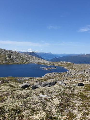 Frå Bøafjellet mot Bøavatnet