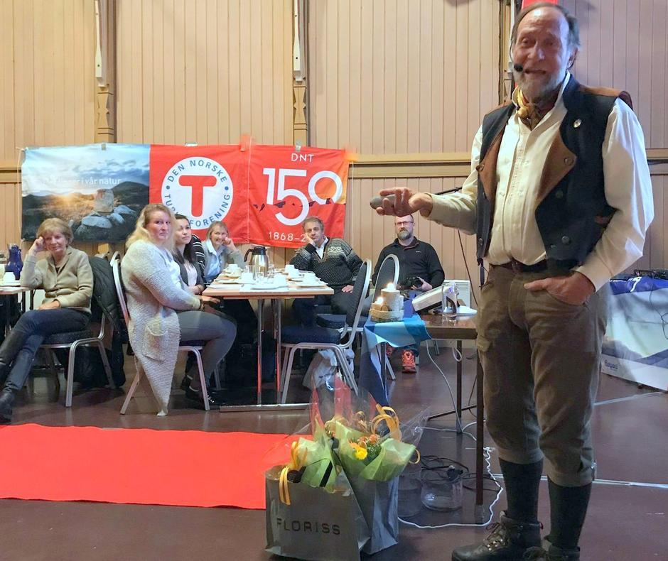 Tor Nicolaisen, forteller om DNT og hans liv som hyttevertskap