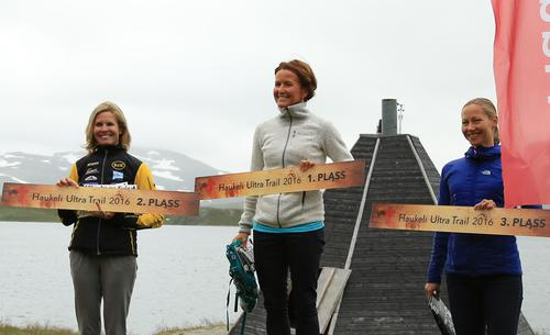 Podium Damer Haukeli Ultra Trail 2016